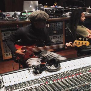 saadiq in studio