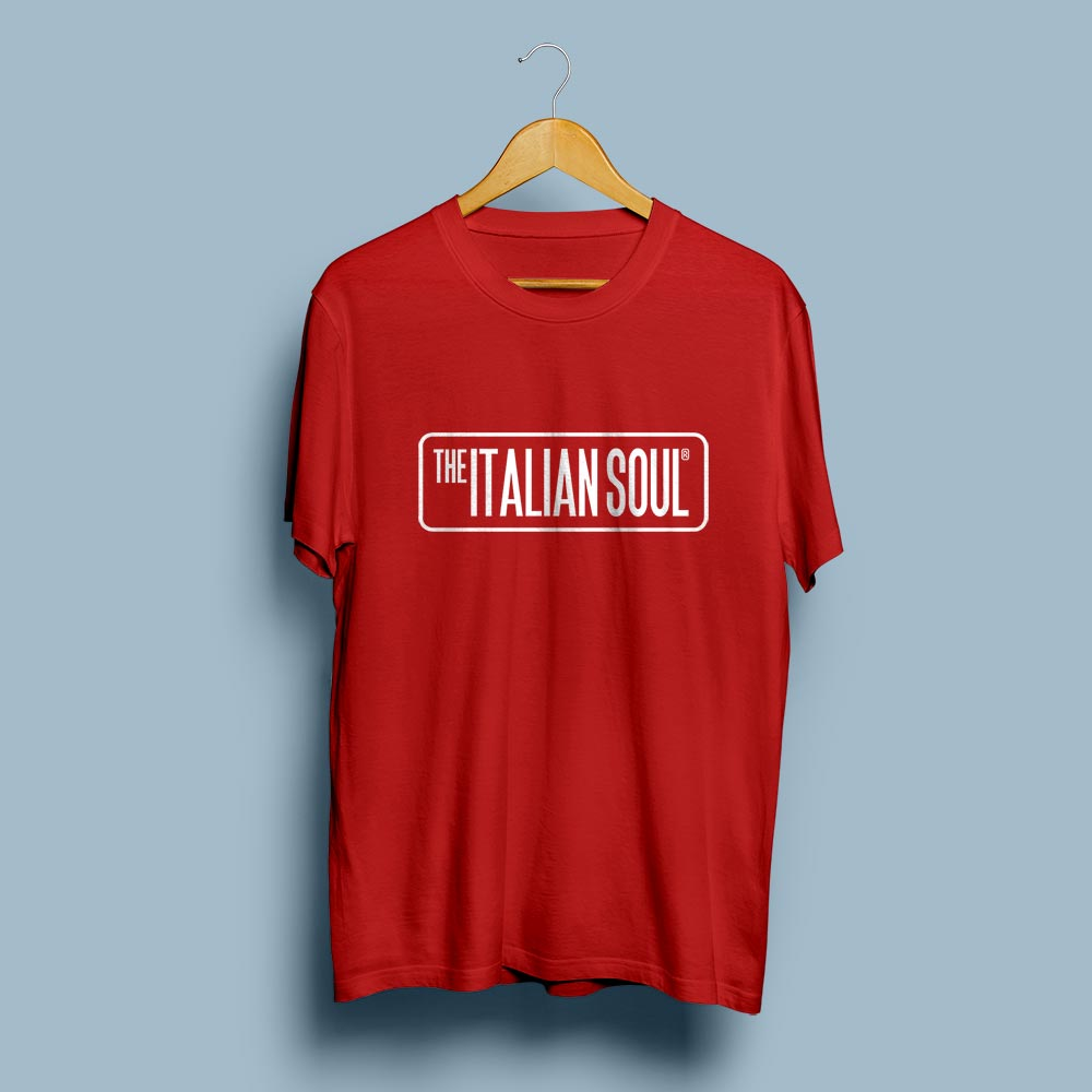 T-Shirt Unisex The Italian Soul Red/Rosso