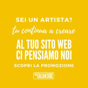 promo sito web per artisti