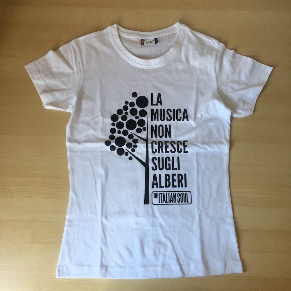 La Musica Non Cresce Sugli Alberi T-Shirt Bianco