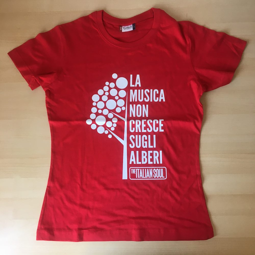 La Musica Non Cresce Sugli Alberi T-Shirt Rosso