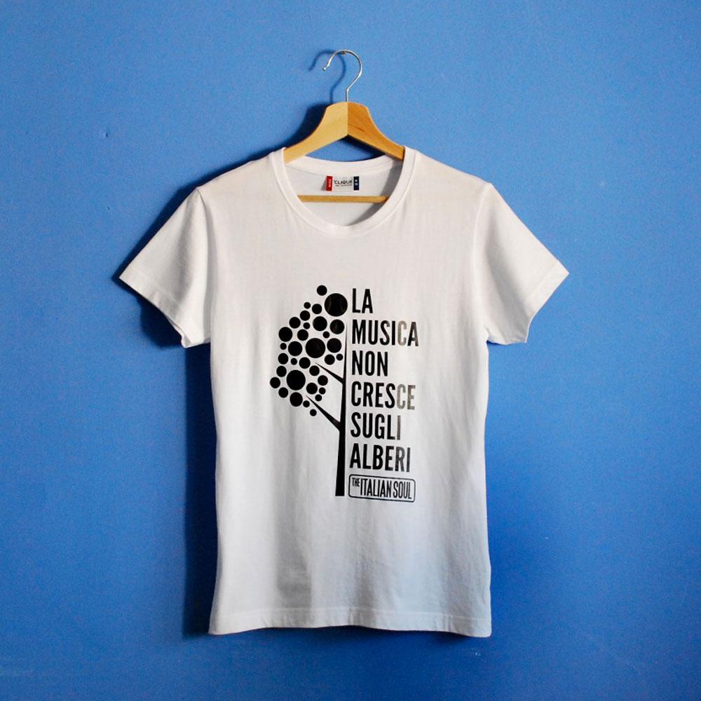 La Musica Non Cresce Sugli Alberi - T-Shirt Bianca - The Italian Soul