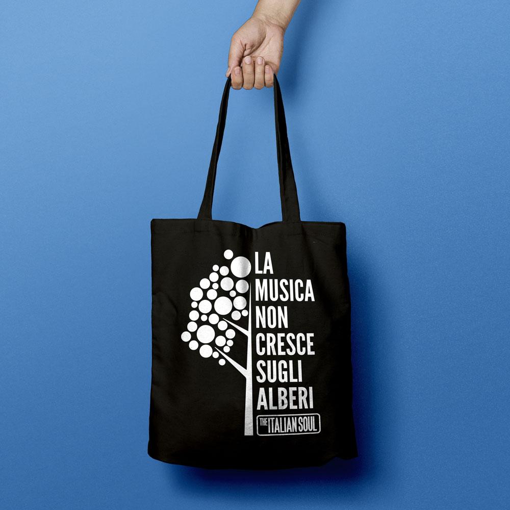 Shopper La Musica Non Cresce Sugli Alberi Logo The Italian Soul